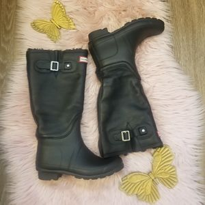 Hunter leather Tall rainy boots